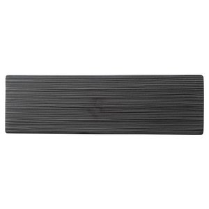 34cmプレート 線紋細平長角皿 マットブラック ジャパニーズモダン おしゃれ 業務用 和食器 shikisaionline