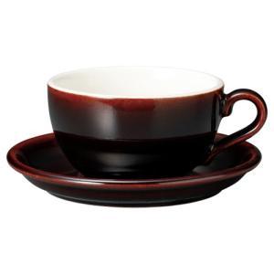 コーヒーカップソーサー 14オンス ラテボウル イラーレ ガーネット 業務用 カフェ食器|shikisaionline