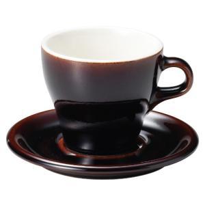 コーヒーカップソーサー 8オンス ラテカップ イラーレ ガーネット 業務用 カフェ食器|shikisaionline