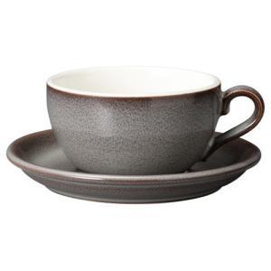 コーヒーカップソーサー 14オンス ラテボウル イラーレ ストームグレー 業務用 カフェ食器|shikisaionline