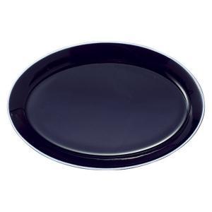 大皿 楕円皿 29.5cmオーバルプラター アスール パシオン おしゃれ 業務用 カフェ食器 美濃焼