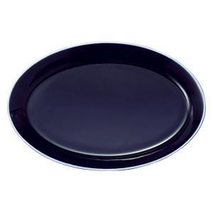 中皿 楕円皿 25cmオーバルプラター アスール パシオン おしゃれ 業務用 カフェ食器 美濃焼