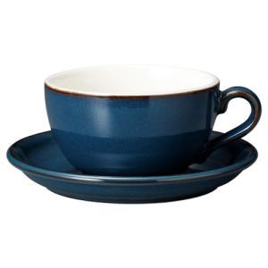 コーヒーカップソーサー 14オンス ラテボウル イラーレ ブルー 業務用 カフェ食器|shikisaionline