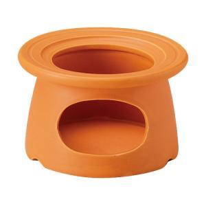 耐熱ワイドリムソースウォーマー オレンジ 固形燃料用 バーニャカウダ チーズフォンデュ用食器|shikisaionline