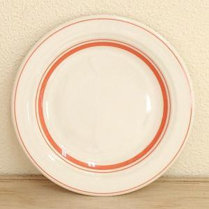 中皿 丸皿 ケーキ皿 17.5cm ソーバーオレンジ カントリーサイド おしゃれ 洋食器 業務用 美...