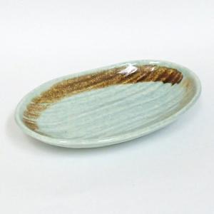 中皿 楕円皿 14.5cm オーバル 薄萌 おしゃれ 和食器 業務用 美濃焼 k18276048