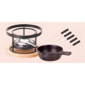 チーズフォンデュ 鍋 片手鍋セット 大 ブラック k19930063-b9900092
