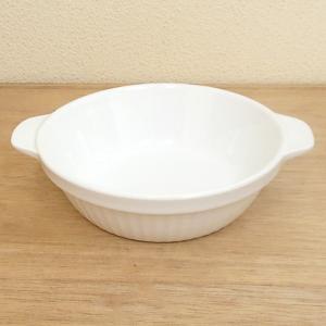 キャセロール グラタン皿 耐熱 18cm 白 強化磁器 業務用|shikisaionline