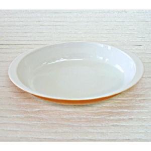 グラタン皿 スタック 楕円 中 22cm オレンジ 強化磁器 おしゃれ 業務用 美濃焼