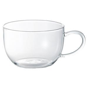 耐熱ガラス製のカップ 390mlです。 ガラス製ですので、紅茶やハーブティーなどの色合いや濃淡を楽し...