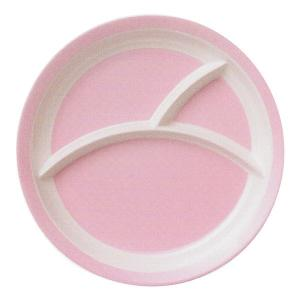 25.5cm 三つ仕切りランチプレート ピンク 皿 メラミン食器 km1004093