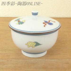 蓋付き湯呑み茶碗 宝づくし 湯飲み 湯呑み 業務用 有田焼 9a562-4-93g|shikisaionline