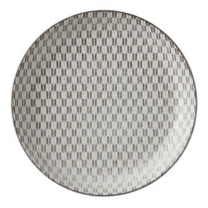 中皿 23cm丸皿 矢絣 古代粉引 和食器 美濃焼 業務用|shikisaionline