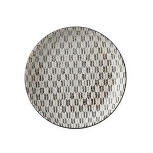 中皿 15cm丸皿 矢絣 古代粉引 和食器 美濃焼 業務用|shikisaionline