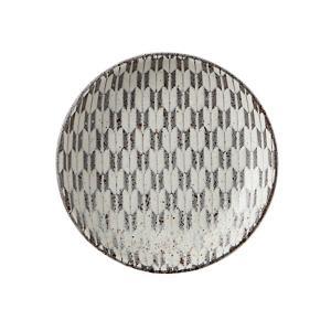 小皿 10cm丸皿 矢絣 古代粉引 和食器 美濃焼 業務用|shikisaionline