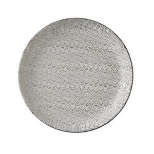 中皿 23cm丸皿 青海波 古代粉引 和食器 美濃焼 業務用|shikisaionline