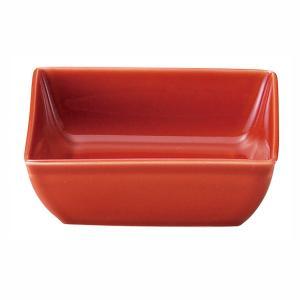 3.6角小鉢 11cm 朱雀 赤 おしゃれ 和食器 業務用 美濃焼 shikisaionline
