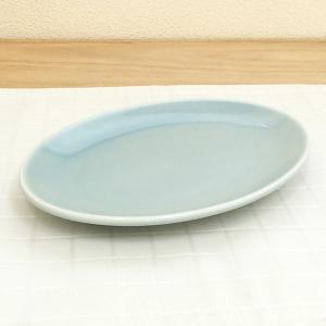 餃子皿 19cmプラター ギョウザ皿 青磁 青彩 中華食器 業務用 美濃焼