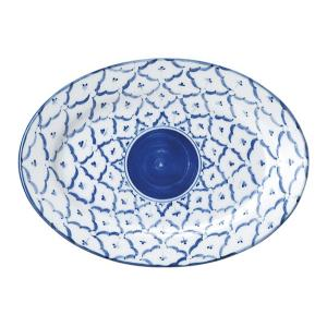 楕円皿 24cm 9インチリムプラター オーバルプレート 餃子皿 チェンマイ 中華食器 業務用