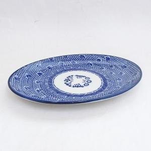 楕円皿 24cm 9インチプラター 餃子皿 タイスキ 中華食器 美濃焼 日本製 業務用