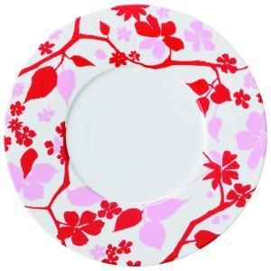 31cmプレート サービングプレート レッド×ピンク Biosボワ 洋食器 美濃焼 おしゃれ|shikisaionline