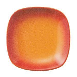 温かみのあるオレンジの色合いと曲線を生かした優しいデザインに心もほっこりと癒される19.5cmスクエ...