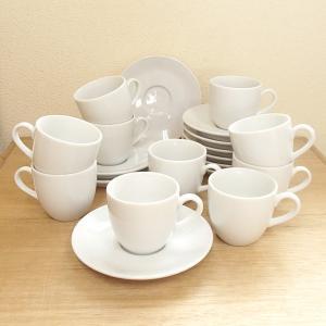 コーヒーカップソーサー 10客セット ホテル ベーシック 白...