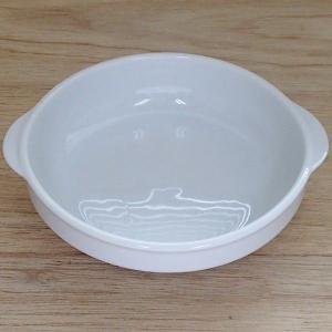 シンプルでプレーンな白いグラタン皿です。重ねて収納ができるスタックタイプで業務用食器として、 お勧め...