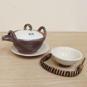 土瓶蒸し セット 粉引 土瓶むし 直火可 万古焼 業務用 5y620-04-743|shikisaionline