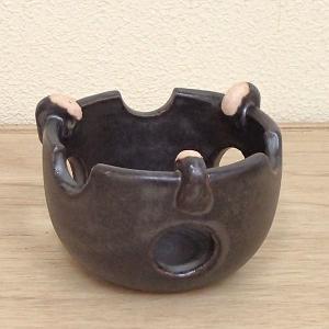 耐熱コンロ 土瓶蒸し 黒釉 直火可 万古焼  和食器 業務用食器 5y621-24-713|shikisaionline