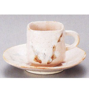 コーヒーカップ ソーサー 桜志野  和陶器 おしゃれ 美濃焼 業務用 8y750-31-234|shikisaionline