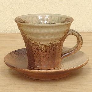コーヒーカップ ソーサー コゲビードロ 和陶器 おしゃれ 信楽焼き 業務用 8y748-26-784|shikisaionline