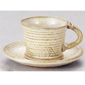 コーヒーカップ ソーサー 灰釉高台 和陶器 おしゃれ 美濃焼 業務用 8y748-25-064|shikisaionline