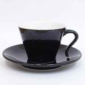コーヒーカップソーサー かがやき 黒御影 業務用 美濃焼 在庫処分|shikisaionline