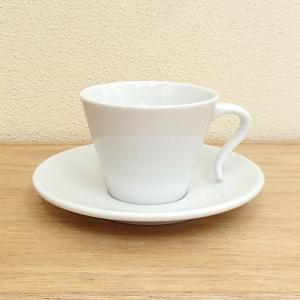 コーヒーカップ ソーサー オープンハンドル かがやき 白 業務用 美濃焼 在庫処分|shikisaionline