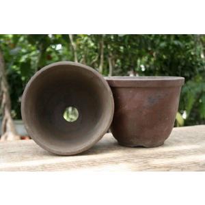 丹波鉢 登り窯焼き 6号(2個組み)|shikoku-garden