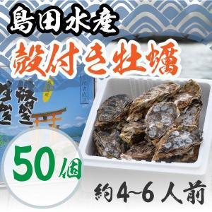 広島県産 島田水産 殻付き牡蠣 50個|shimadasuisan