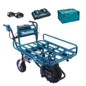 【makita】マキタ<これですぐ使えます!!パイプフレーム仕様フルセット品> 充電式運搬車(最大積...