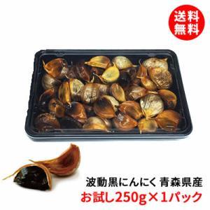 送料無料 波動黒にんにく 青森県産 250g入り×2|shimamotoya
