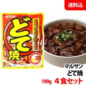 送料無料 【ネコポス】 マルサン どて焼 190g 4食セット 国産豚ホルモン100%使用|shimamotoya