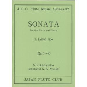 楽譜 フルートクラブ名曲シリーズ032 ヴィヴァルディ作曲 フルートソナタop.13 1〜3 / 日本フルートクラブ出版
