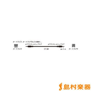 audio-technica オーディオテクニカ ATL444A/3.0 ケーブル ステレオミニ⇔ステレオミニ|shimamura