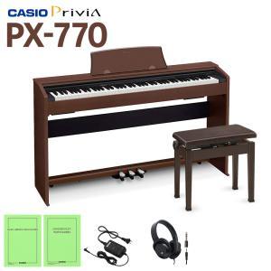 〔在庫あり〕 ♪♪ママキャンペーン♪♪ CASIO PX-760BN 同色高低自在イス セット 電子ピアノ 88鍵盤 〔カシオ PX760〕〔オンラインストア限定〕|shimamura