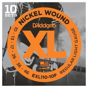 D'Addario ダダリオ EXL110/10P エレキギター弦 Regular Light 10セットパック|shimamura