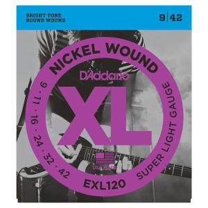 D'Addario ダダリオ EXL120 エレキギター弦 Super Light