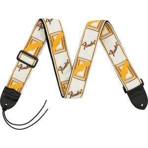 Fender フェンダー Monogrammed Straps 099-0683-000 ストラップ モノグラム [White/Brown/Yellow] 0990683000|shimamura