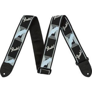 Fender フェンダー Monogrammed Straps 099-0681-502 ストラップ モノグラム [Black/L.Grey/Blue] 0990681502|shimamura