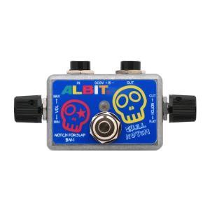 ALBIT アルビット Micro Notch Filter For Slap -Mid Control- BN-1 (BN1) コンパクトエフェクター 〔ノッチフィルター〕〔SKULL SERIES〕|shimamura