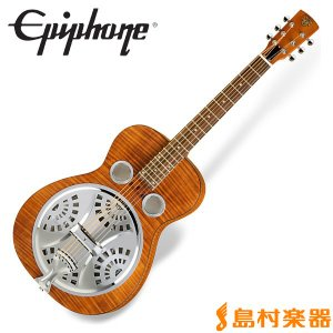 Epiphone エピフォン Dobro Hound Dog Deluxe Round Neck Vintage Brown ハウンドドッグ リゾネイターギター|shimamura