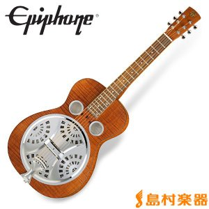 Epiphone エピフォン Dobro Hound Dog Deluxe Square Neck Vintage Brown ハウンドドッグ リゾネイターギター|shimamura